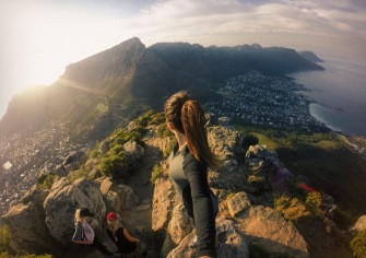Overlooking Table Mountain from Lions Head Peak