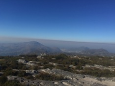 Smoke line from the fires
