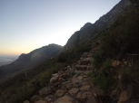The hike up table mountain