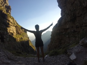 Climbing Table mountain