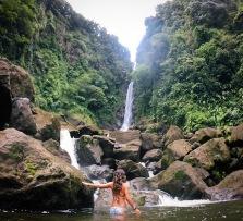 Trifulgar Falls in Dominica